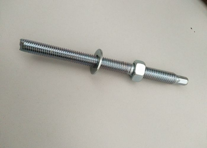 Chemical Anchor Bolt Iron Material , Mechanical Anchor Bolt For Wall / Construction