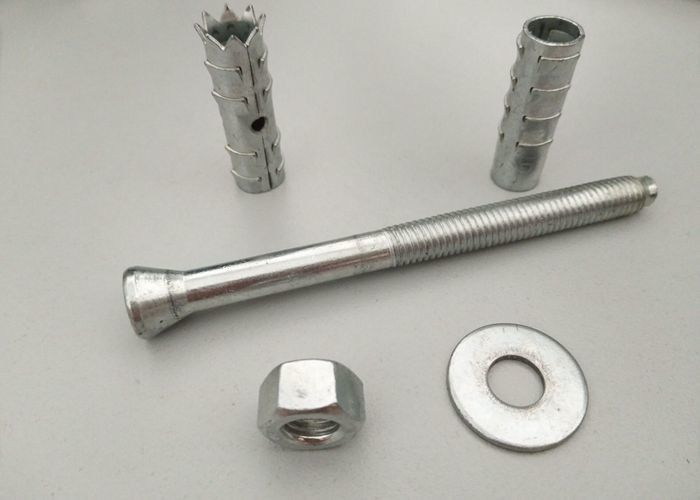 Mechanical Chemical Anchor Fixings , Wall Anchor Bolts White Zinc Color