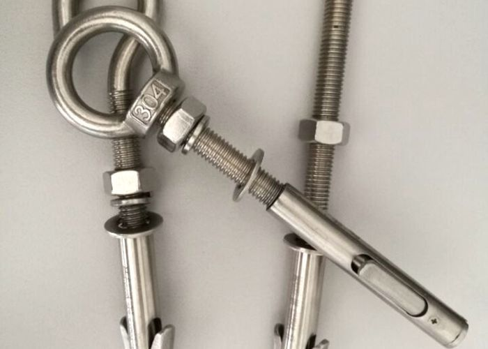 Hardware Fasteners All- Powerful  Anchor Bolts With White Zinc Plated